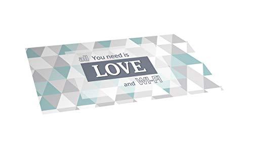 STOR PLANET Alfombra vinílica Estampada Love, PVC reciclable, Antideslizante, 50 x 110 cm