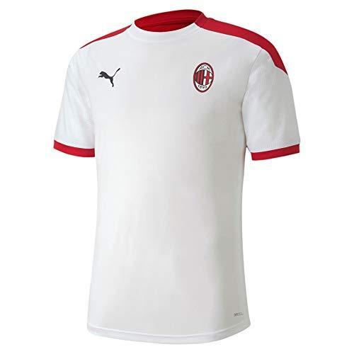 PUMA AC Milan Temporada 2020/21-Training Jersey Camiseta Entrenamiento, Unisex Adulto, White/Tango Red, XXL