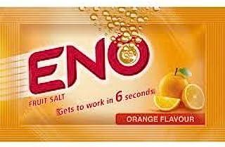 ENO Fruit Salt Fast Refreshing Relief Original Orange Regular 5 Sachets Per Box
