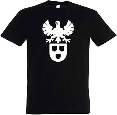 Herren T-Shirt Maler Zunftwappen S bis 5XL (Schwarz, L)