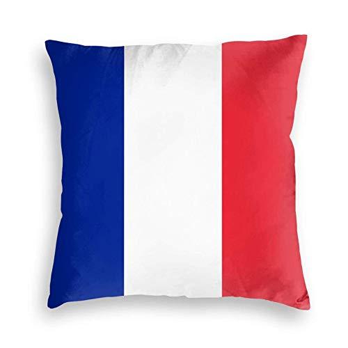 SUN DANCE Funda de cojín decorativa suave con la bandera de Francia para sofá, coche, cama, 50,8 x 50,8 cm