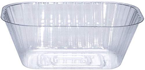Curtis Wagner Plastics Drip Pan Saucers (5-Pack) - Clear, Oval (Diameter: 6.5 x 4.25 Base, 9.25 x 6.8 x 3.5 Top, 3.5 Depth) Thin Plastic Plant Tray -  Curtis Wagner Plastics Corp.