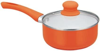 PAN WORLD Ceramic Coated Sauce Pan 18cm Diameter (Orange)