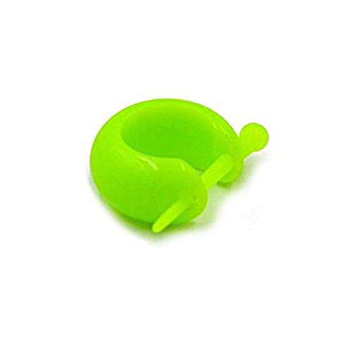 CHICNET Damen Herren Pin Creolen kleine Ohrringe aus Acryl neon bunt, 15mm, Stick 1,7mm auf 20mm neon grün
