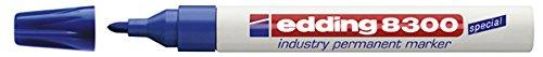 edding Permanentmarker edding 8300 industry, 1,5-3 mm, blau