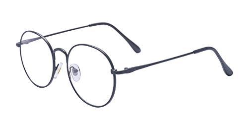 ALWAYSUV ALWAYSUV Metallrahmen Runde Brille Retro Brille Transparente Brille mit Fensterglas