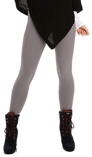 BeLady Thermo Leggings voor dames, enkellang van katoen met zachte warme binnenfleece afslankende broek met hoge band 36,38,40,42,44,46 zwart donkerblauw grafiet-grijs jeans