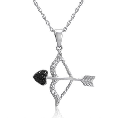 Original McPearl Diamant Anhänger Pfeil und Bogen mit Kette. Top Qualität aus Deutschland.