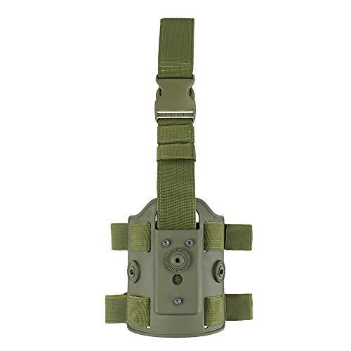 Gexgune Tactical Drop Leg Holster Plataforma en Forma de Funda de polímero Adaptador de Panel Accesorios de Pistola (3 Colores Opcionales)