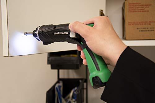 Metabo HPT Cordless Screwdriver Kit, 3.6V, Lithium Ion Batteries - 2, Dual Position Handle, LED Light, 21 Clutch Settings, Lifetime Tool Warranty (DB3DL2)