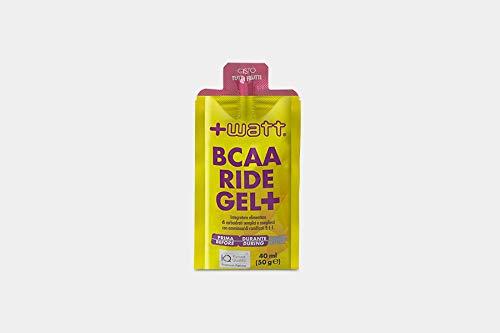 +Watt BCAA Ride Gel+, 20 Confezioni Da 40ml (50 Grammi) Ciascuno, Gusto Tutti Frutti