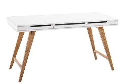 CLP Schreibtisch Porto V2 aus MDF und Eichenholz I Bürotisch mit 2 Schubladen und großer Arbeitsfläche I In verschiedenen Größen erhältlich 140 x 60 cm