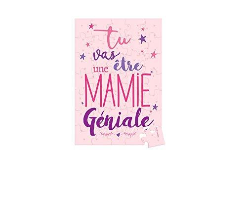 BBG-Puzzle con mensaje sorpresa Tu Vas ser Una Mamie Genale Embalado en...