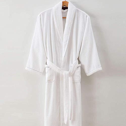 100% katoenen badjassen herfst en winter verdikking heren en dames pyjama voor mannen en vrouwen koppels absorberende badjassen volwassen badhanddoeken