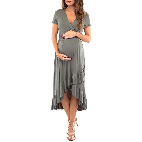 Summer Women Lady Maternity Short Sleeve Casual Sundress Pregnancy Dress Clothes