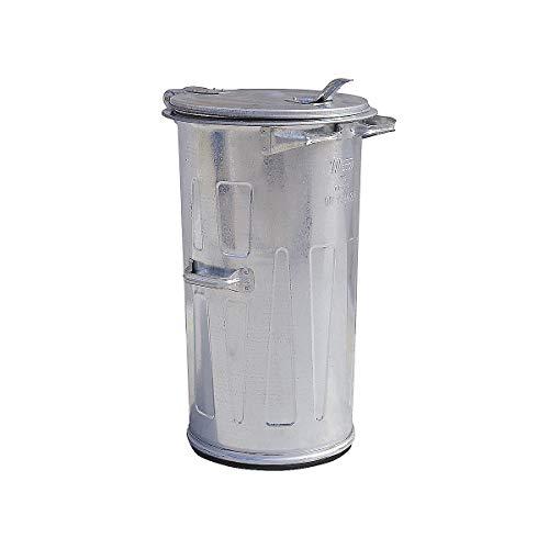 Certeo Mülltonne | HxØ 870 x 550 mm | Verzinkt | Abfalltonne Metallabfalltonne Mülleimer Metallmülleimer Abfallbehälter Metallbehälter