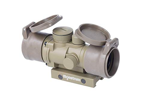 Monstrum S330P 3X Prism Scope | Flat Dark Earth with Flip-Up Lens Covers