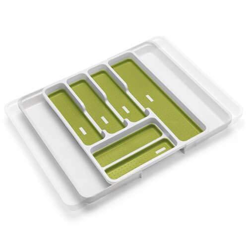 Addis - Organizador de cajones, con 6 Compartimentos, Blanco y Verde, 6-8 Sections