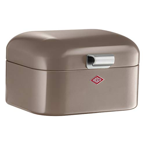 Wesco 235 001 Mini Grandy Brotkasten 17 x 18 x 12cm (L/B/H) warm grey