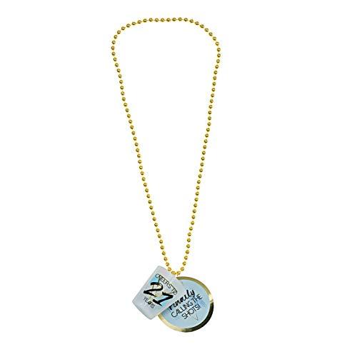 Pavilion Gift Company 21st Birthday Shot Glass Necklace, 1.75 Oz, Blue