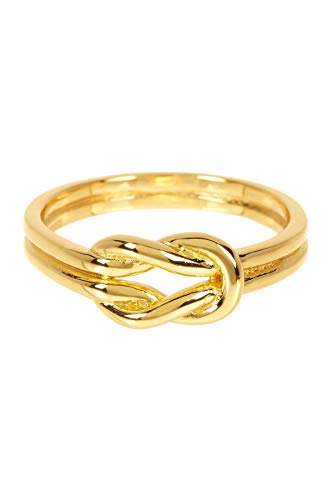 Sterling Forever Double Knot Ring Knot Ring in Gold Vermeil, Love Knot Ring, Promise Ring (7)