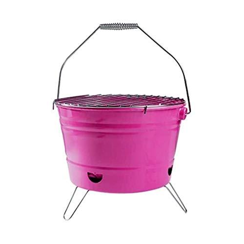 HLWAWA Feuerstelle Feuerschale BBQ-Feuerkorb Feuerschale in Antik-Rost-Optik, Garten Feuerstelle Terrassenfeuer Garten Terrasse Feuer Lagerfeuer Rosa 27x17cm (Color : Pink)