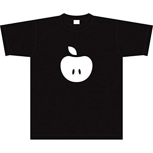 Tシャツ 【Lサイズ】 林檎様 黒×白 016W