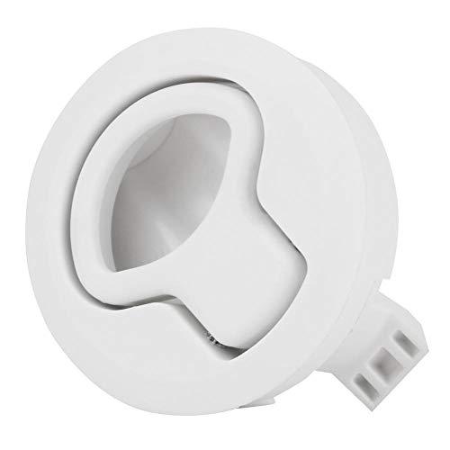 Flush Pull Latch, Universal Kunststoff Flush Pull Latch Latch Slam Latch für 1,8 Zoll Wohnmobile und Yatchs (weiß)(Weiß)
