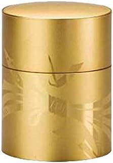 【茶筒?茶葉ストッカー】【薩摩彫金(結び/金)】 【内容量150g用 】
