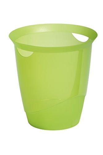 Hållbar trend avfallsbehållare plast 16 liter – genomskinlig ljusgrön