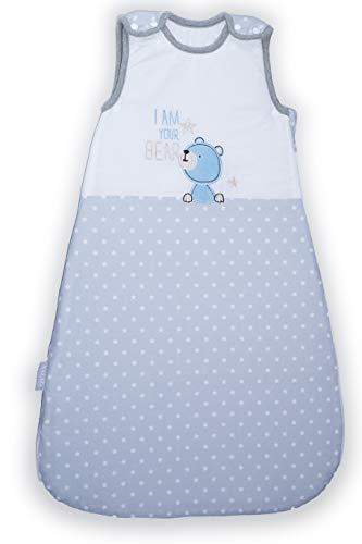 Nalaïa - Premium Babyschlafsack aus OEKO-TEX® 100 zertifizierter Bio Baumwolle für sicheren und gesunden Babyschlaf von deutschem Unternehmen | ganzjährig 2,5TOG | Gr. 56/74 | 0-8 Monate