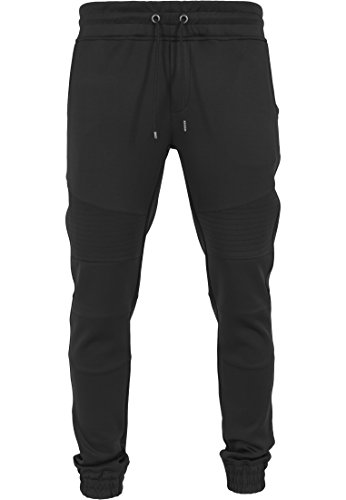 Urban Classics Hose Scuba Fitted Biker Pants Pantalon de Sport Homme, Noir (Schwarz), (Taille Fabricant: Large)