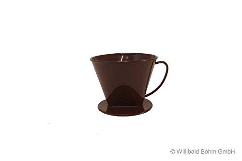 Kannenaufsatz 2-4 Tassen, braun, Kaffeefilter - Sonja-PLASTIC, Made in Germany