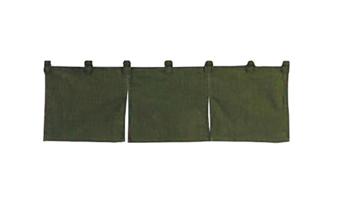 要件トレーダー千綿麻無地 のれん 850×250 緑 001-01