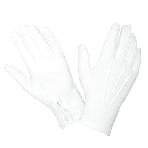 Hatch WG1000S Cotton Parade Glove w/Snap Back - White, Large