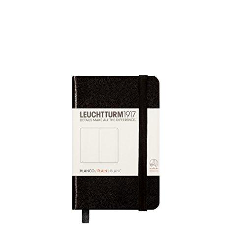 LEUCHTTURM1917 343568 Notizbuch Mini (A7), Hardcover, 169 nummerierte Seiten, Schwarz, blanko