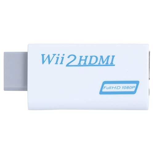 XZANTE Wii a HDMI Wii2HDMI Completo HD FHD 1080P Adaptador conversor 3.5mm Clavija de Salida de sudio