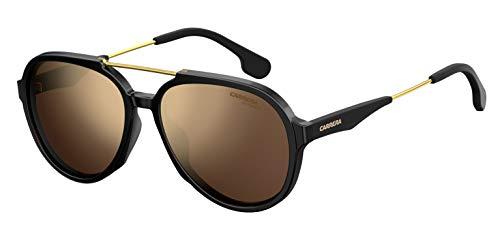 Carrera Sport Carrera 1012/S Gafas, Black/GD Gold, 56 Adultos Unisex
