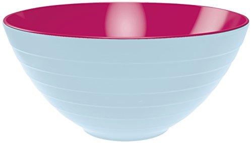 ZAK Designs 2172-0321 Insalatiera Ciotola Colori Azzurro Fuori e Lampone Dentro 28 cm