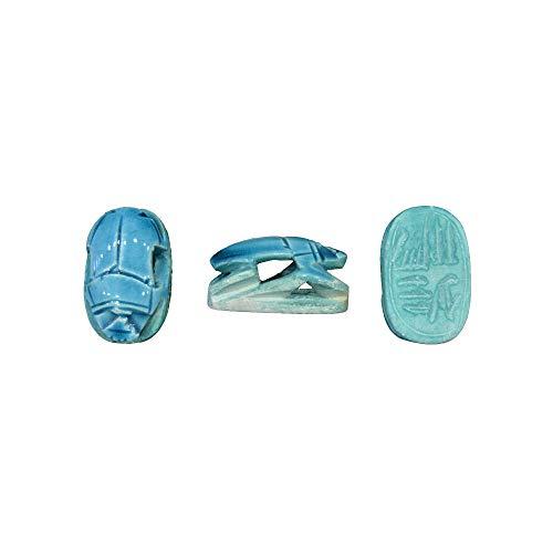 Escarabajo de la Suerte Replica del Antiguo Egipto, Conjunto de 3 escarabajos Huecos Hechos a Mano en Egipto