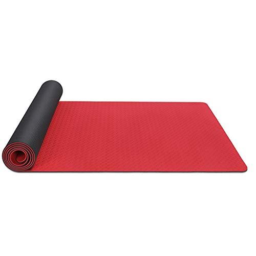 LDH Esterilla Yoga de 10 Mm De Espesor, Impermeable, Material NBE, Adecuado para Principiantes de Yoga, Equipado con Correas Antideslizantes, Pilates Y Fitness 183 * 61/185 * 80cm