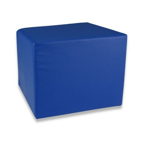 Fränkische Schlafmanufaktur Stufenlagerungswürfel, Bandscheibenwürfel, Lagerungswürfel, mit Soft-Kunstlederbezug, ca. 50x45x40 Farbe Blau