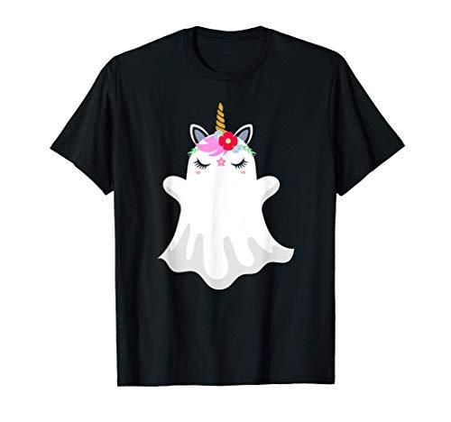 Fantasma Unicornio Divertido Disfraz Halloween Mujer Niña Camiseta