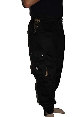 Islamische Kleidung Amana Harem Hose Sunnah Hose Schwarz Camouflage (XL)