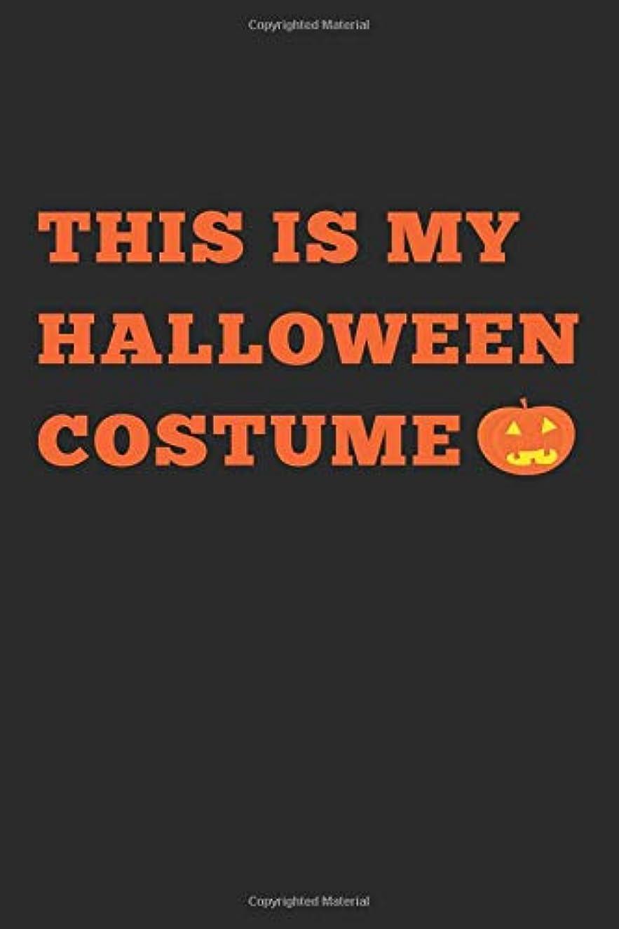 プレーヤー悪魔アーチThis Is My Halloween Costume: Novelty Blank Notebook Journal Gift