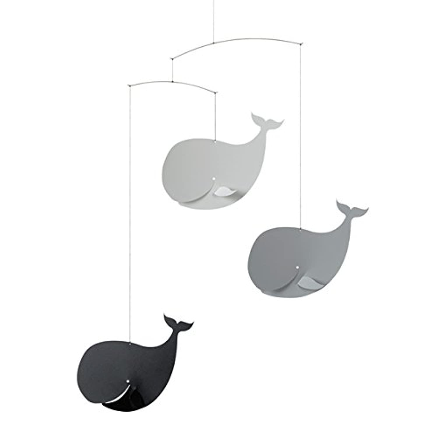 Flensted Mobiles フレンステッド?モビール (Happy Whales/Black/Grey/81S)