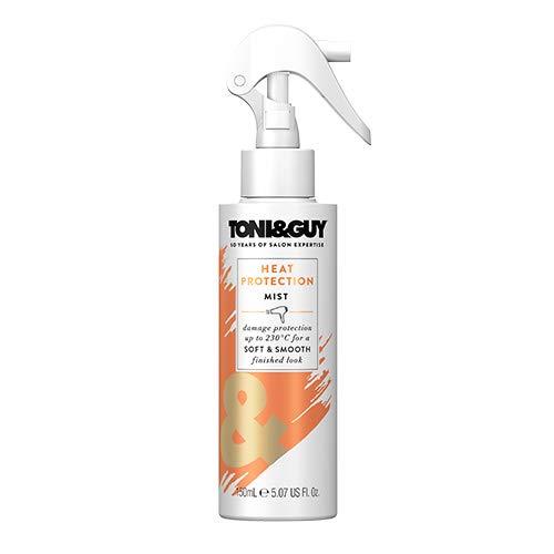 Toni&Guy Heat Protection Mist I Hitzeschutz-Spray für Glätteisen, Föhn, Lockenstab I Hitzeschutz bis zu 230 Grad I Heat-Protectant I Anti-statisches Haarschutz-Spray für Haarpflege I 150 ml
