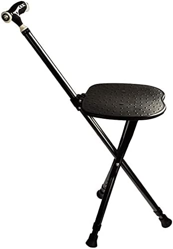 Crutches Adult Bombing free shipping Folding Cane Seat Stool Limited Special Price Retractabl Foldable Chair