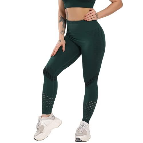 Pantalones de Yoga para Mujer Medias de Fitness de Cintura Alta Pantalones de Entrenamiento de energía sin Costuras para Mujer Pantalones de Entrenamiento Push-up NM