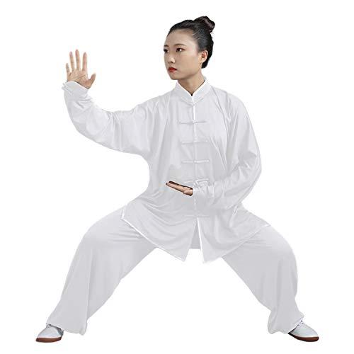 BBLAC 2KEY Tai Chi Abbigliamento | Unisex Kung Fu e Arti Marziali Uniforme | Wing Chun Uniforme in Latte Seta | Abbigliamento per Meditazione e Qigong (B, M)